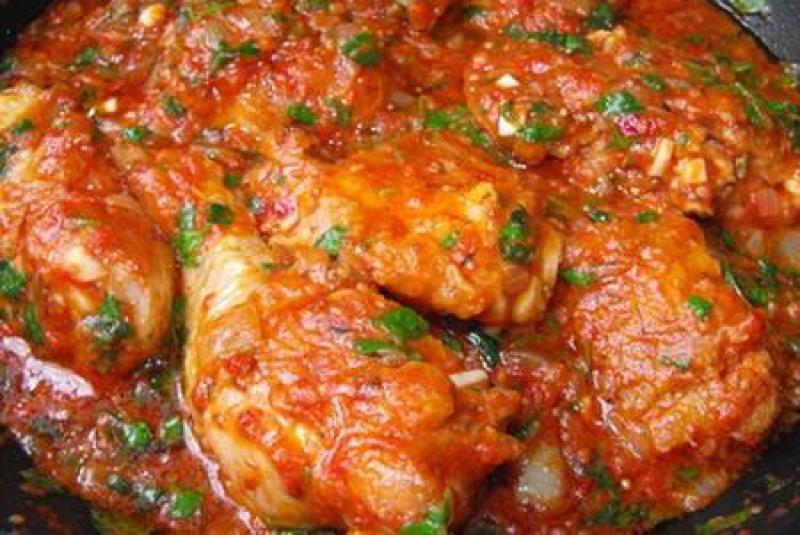 Geflügelgerichte, Tschachochbili - Huhn mit Tomaten