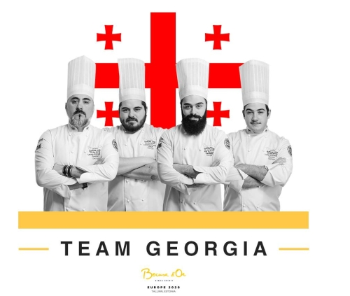 Georgische Küche bei Bocuse d'Or, Team Georgien